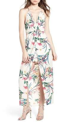 Lush Print Maxi Dress