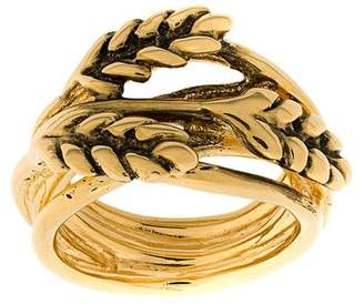Aurelie Bidermann leaf embellished ring