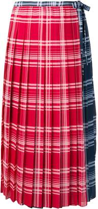Tommy Hilfiger checked pleated skirt