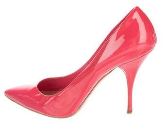 Miu Miu Miu Miu Patent Leather Pointed-Toe Pumps