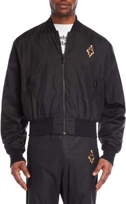 Marcelo Burlon County of Milan Black Bomber Jacket