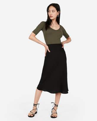 Express One Eleven Ribbed Off The Shoulder Elbow Sleeve Shirt