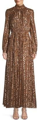 Giambattista Valli Abstract Pleated Long Blouson Dress
