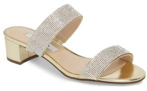 Nina Georgea Crystal Embellished Slide Sandal