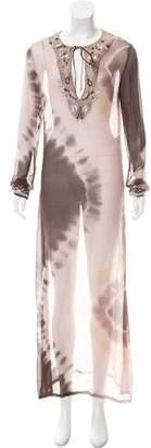 AllSaints Embellished Silk Dress