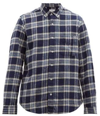 President's Chatham Check Cotton Flannel Shirt - Mens - Blue White