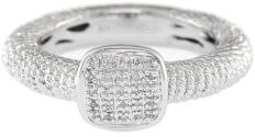EFFY Balissima Square Sterling Silver & Pavé Diamond Ring