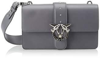 Pinko Love Simply 6 Tracolla Vitello Seta, Women's Shoulder Bag,7x21x28 cm (W x H L)