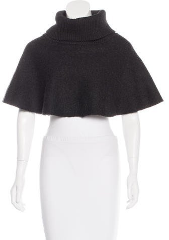 Elizabeth And James Elizabeth and James Turtleneck Wool Cape