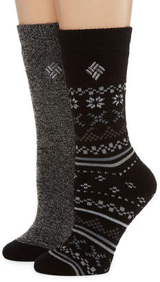 Columbia 2 Pair Crew Socks - Womens