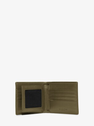 0f8ef3de25fde8 Michael Kors Harrison Crossgrain Leather Billfold Wallet With Passcase