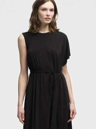 DKNY Asymmetrical Tie-Waist Dress