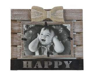 Gracie Oaks Dole Ribbon Happy Picture Frame