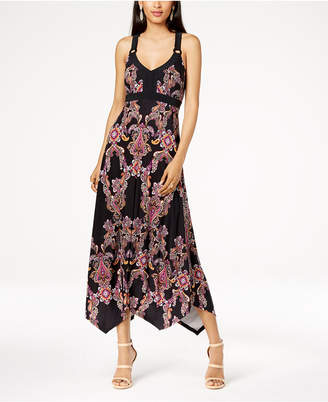 INC International Concepts I.n.c. Petite Printed Handkerchief-Hem Dress, Created for Macy's