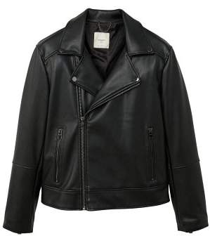 Mango man MANGO MAN Zipped biker jacket
