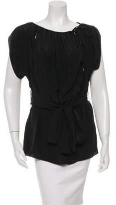 Schumacher Dorothee Short Sleeve Silk Top w/ Tags