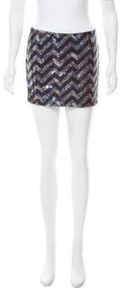 Jay Godfrey Sequin Mini Skirt