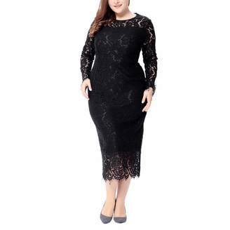 93cf27fc8cca4 Leewos Fashion! Sexy Party Dress,Women Vintage Floral Lace Plus Size  Cocktail Formal Swing