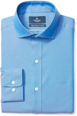 Buttoned Down Men's Classic Fit Cutaway Collar Solid Shirt