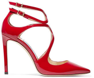Jimmy Choo Lancer 100 Patent-leather Pumps - Red