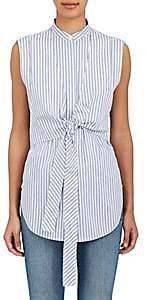 Helmut Lang Women's Striped Cotton Layered Shirt-Blmu