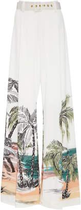 Agua de Coco Belted Wide Leg Pants