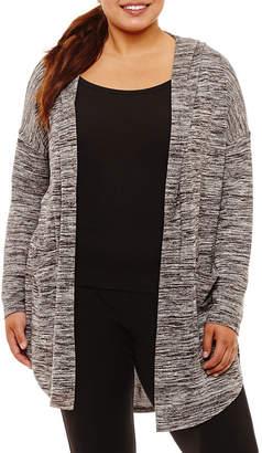 Xersion Long Sleeve Knit Hoodie-Plus