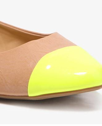 Forever 21 Neon Toe Ballet Flats