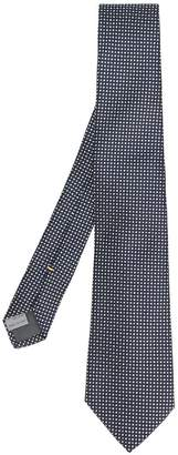 Canali polka dot patterned tie