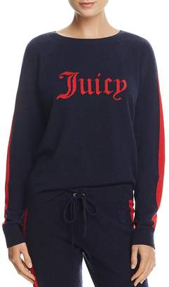 Juicy Couture Black Label Striped-Sleeve Cashmere Sweater - 100% Exclusive