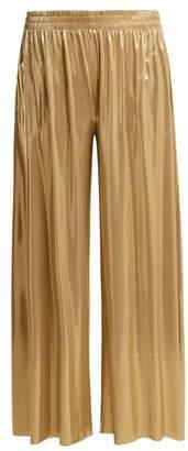 Norma Kamali Boyfriend Elephant Wide Leg Trousers - Womens - Gold
