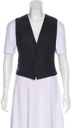 Alexander McQueen Wool Button-Up Vest