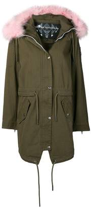 Moose Knuckles fur trim hooded parka coat