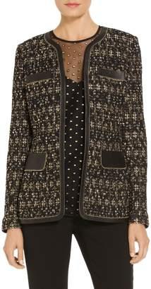 St. John Gilded Eyelash Patterned Knit Jacket