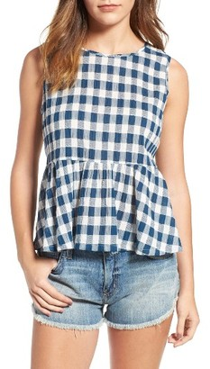 Women's Current/elliott The Peplum Tank $178 thestylecure.com