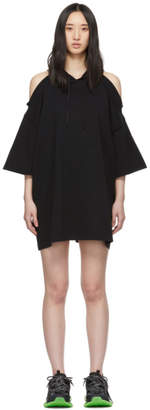 Vetements Black Open Shoulder Hoodie Dress