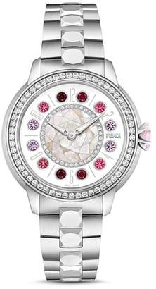 Fendi IShine Diamond & Rotating Gemstones Watch, 33mm