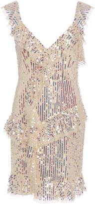 Needle & Thread Scarlett Sequin Tulle Mini Dress