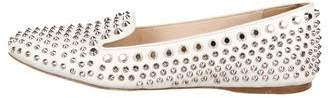 Prada Studded Leather Loafers