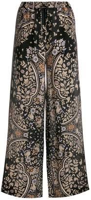 Max Mara printed wide leg trousers