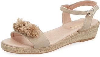 Sesto Meucci Harper Flat Espadrille Sandal, Taupe $149 thestylecure.com
