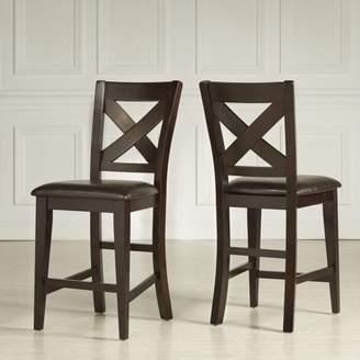 Weston Home Counter Height Chair, Set Of 2, Warm Merlot
