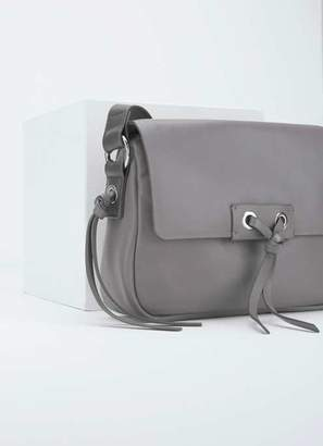 92a9399514e Mint Velvet Minna Grey Leather Eyelet Bag