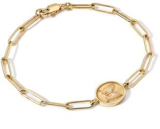 Retrouvaí Butterfly Fantasy Signet Link Bracelet - Yellow Gold