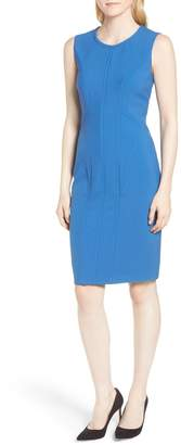 BOSS Dajil Seamed Ponte Sheath Dress (Regular & Petite)
