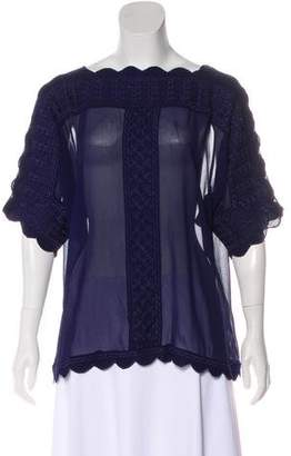 Etoile Isabel Marant Embroidered Sheer Top w/ Tags