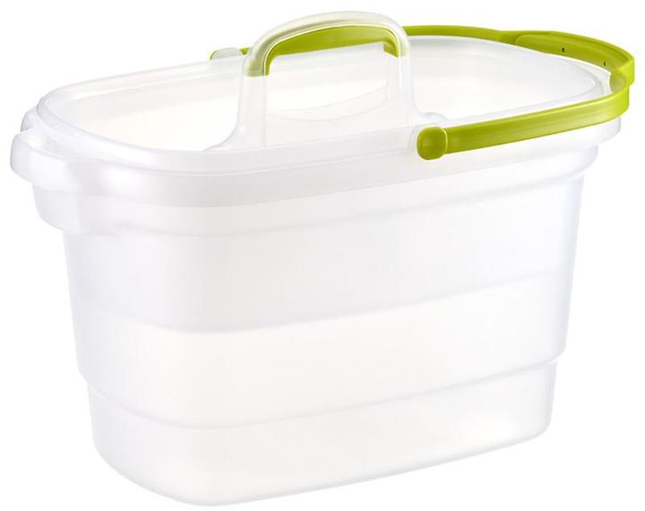 Container Store Rectangular Cleaning Caddy Translucent/Lime