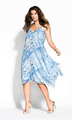City Chic Citychic Palermo Dress - ocean