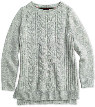 Tommy Hilfiger Adaptive Women's Cable-Knit Sweater with Wide Neck