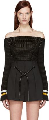 3.1 Phillip Lim Black Off-the-Shoulder Pullover $325 thestylecure.com